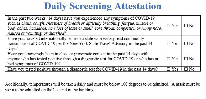 Student Daily Screening Attestation