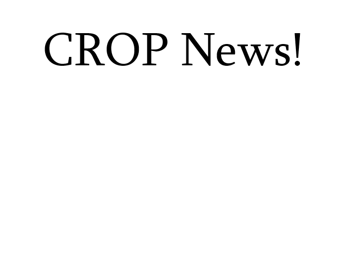 CROP News - In Person CROP Starting April, Grades K-5 - Click here for Info